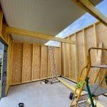 Montage des murs en bois de l'extension- Construction d'une extension maison en bois à Arques