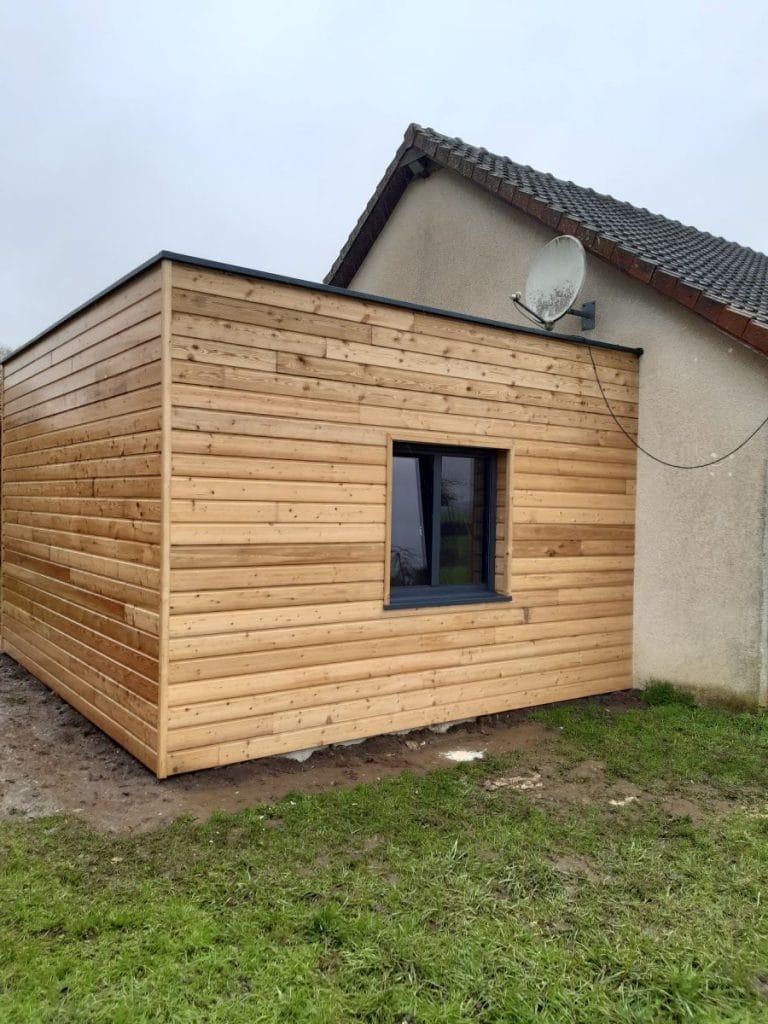 Extension de maison en bois à Forêt-la-Folie dans l'Eure (27)