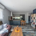 Création d'une cuisine ouverte sur le salon - extension de maison à Thorigny de 50 m2