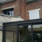 Pignon à rénover au dessus de la véranda - Rejointement de pignon de maison à Lille