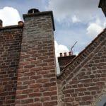 Travaux en cours - Rejointement de pignon de maison à Lille