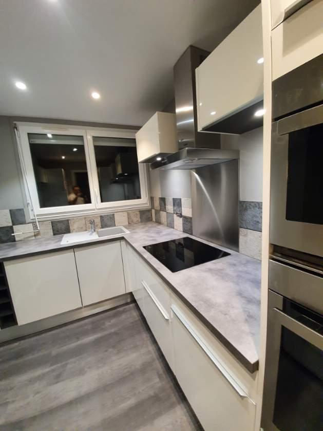 Rénovation d'une cuisine d'un appartement à Vernon (27)