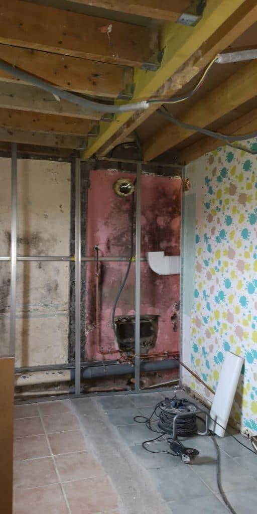 Modification des cloisons - Rénovation de maison à Saulzet-le-Froid dans le département du Puy-de-Dôme