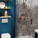 Douche rénovée et WC suspendu - Rénovation de maison à Saulzet-le-Froid dans le département du Puy-de-Dôme