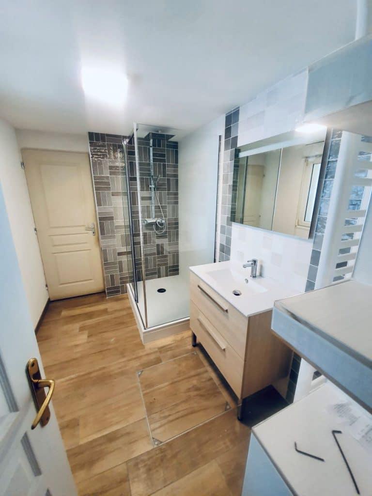 Rénovation d'une salle de bain à Norrent-Fontes (62)