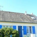 Vue générale sur la toiture - rénovation de toiture sur l'île de Groix