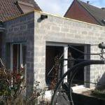extension maison Marquette-lez-Lille - en cours de travaux - extérieur