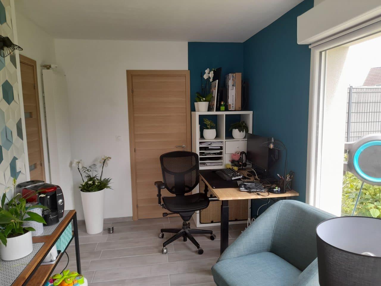 extension maison Marquette-lez-Lille - intérieur avec bureau