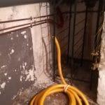 Soucis d'infiltrations avant travaux - rénovation d'une cave à Tourcoing