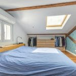 Chambre sous combles - rénovation d'une maison à Décines-Charpieu, près de Lyon