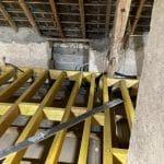Plancher surélevé de 30 cm - Rénovation partielle d'une maison à Trouy Bourg, près de Bourges (18)