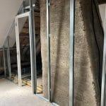 Combles en cours d'aménagement - Rénovation partielle d'une maison à Trouy Bourg, près de Bourges (18)