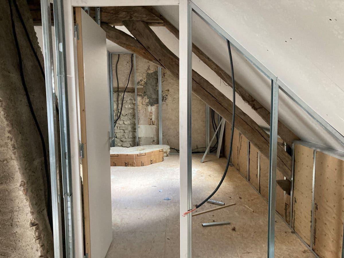 Rénovation partielle d'une maison à Trouy Bourg, près de Bourges (18)