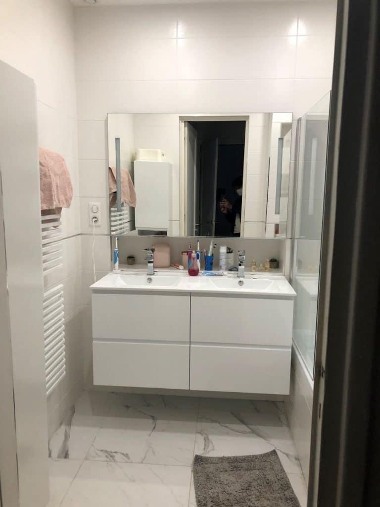 Nouvel agencement pour la salle de bain - rénovation partielle d'une maison à Lyon