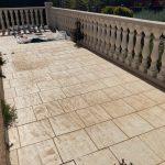 Terrasse Avant travaux - Aménagements extérieurs à Ouveillan près de Narbonne par illiCO travaux