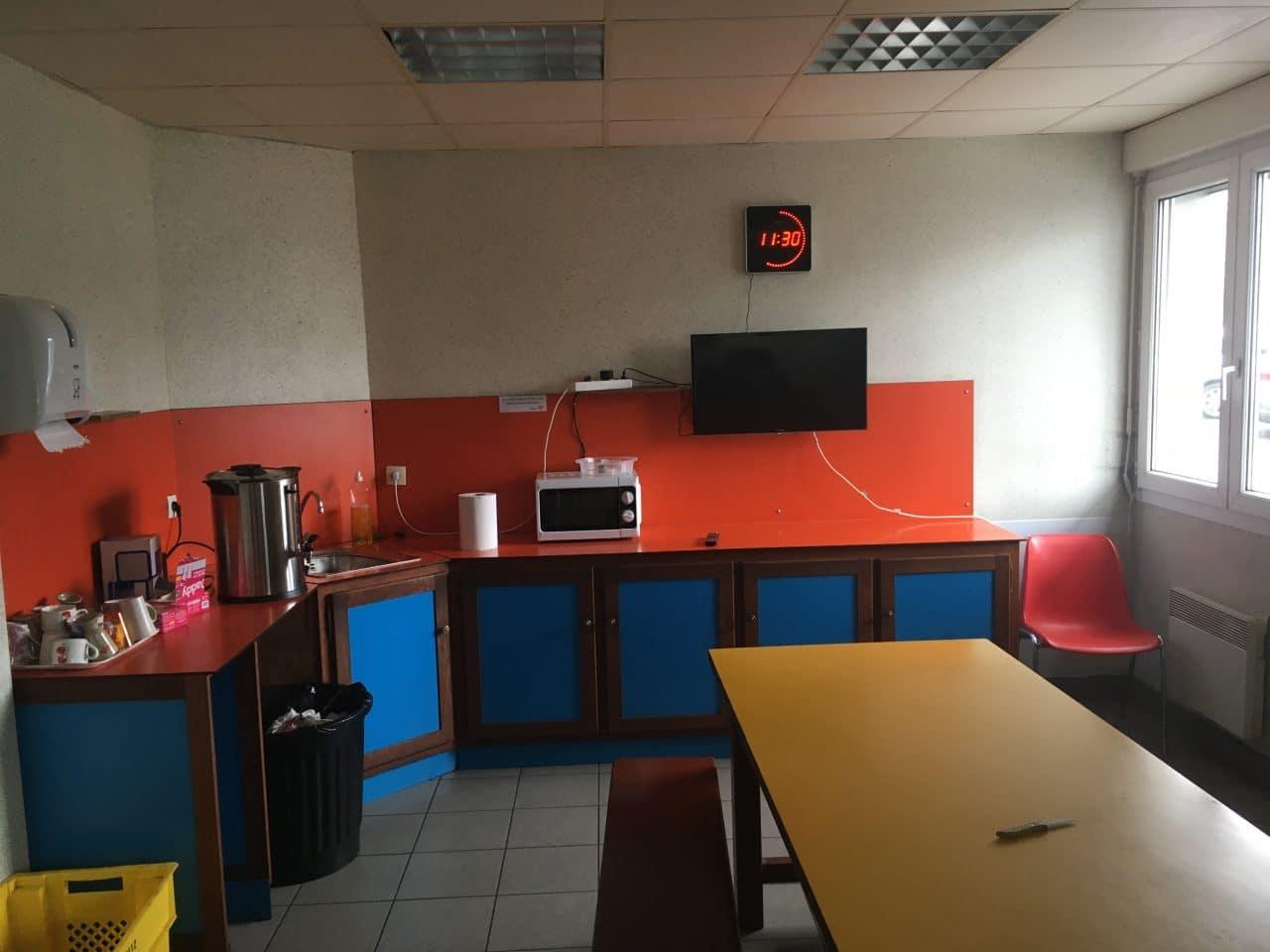 création d'une salle de pause à Carentoir - avant travaux