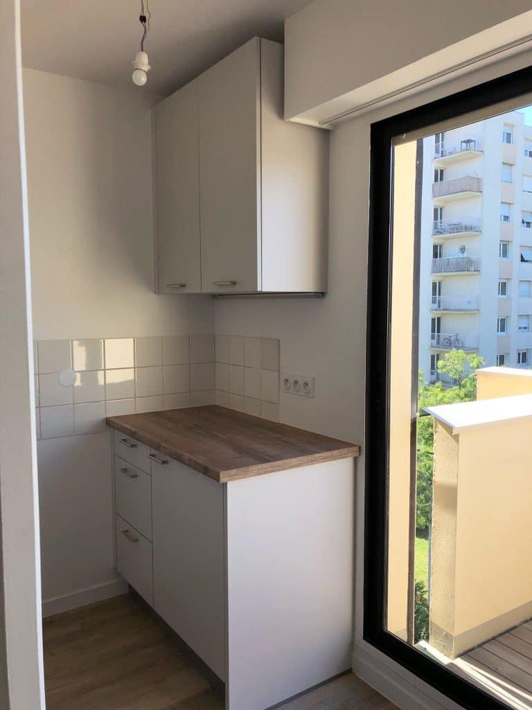 rénovation d'un appartement pour une location Talence - cuisine
