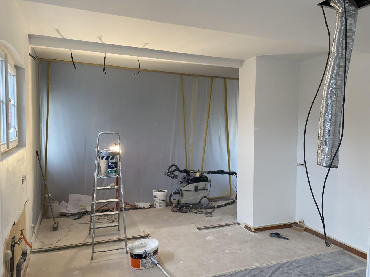 rénovation de cuisine à Holtzheim - pendant travaux