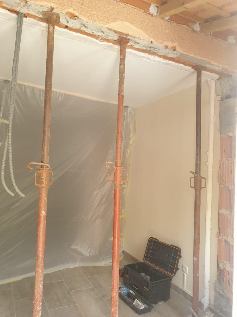 rénovation et extension d'une maison à Escalquens - pendant travaux