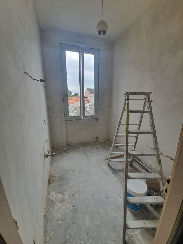 rénovation de salle de bain à Albi - pendant travaux