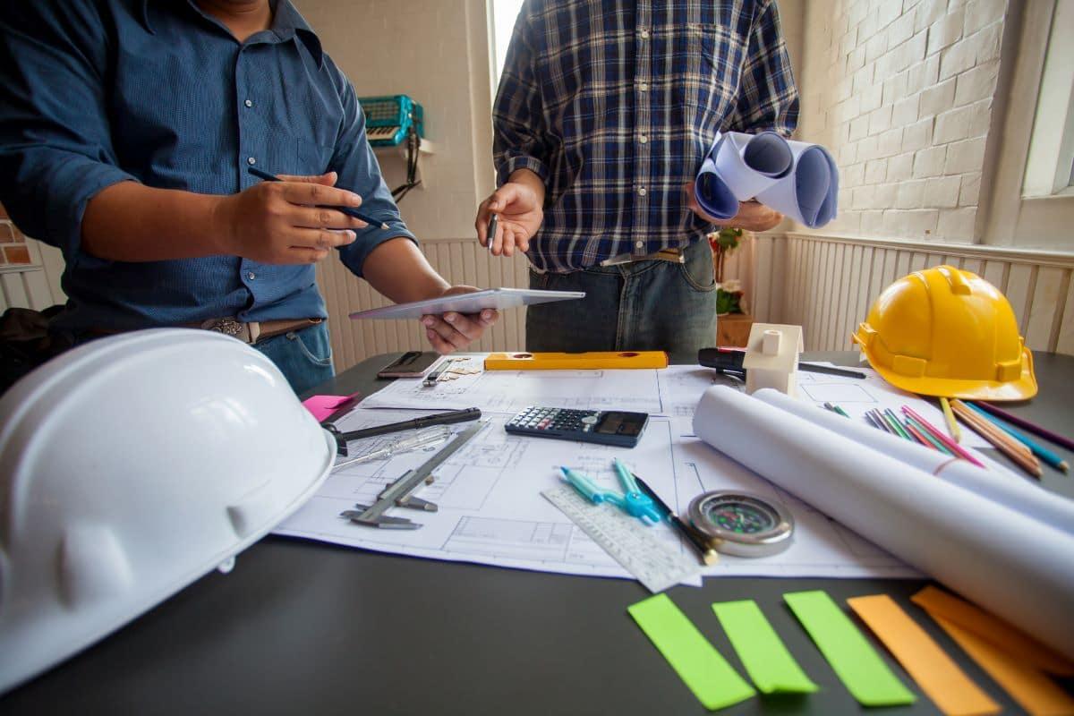 Plan pour une extension de maison