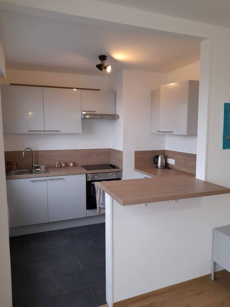 rénovation d'appartement locatif à Lille Saint-Maurice - cuisine