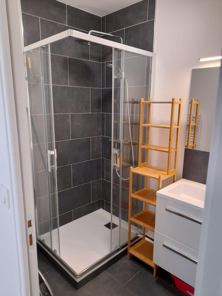 rénovation d'appartement locatif à Lille Saint-Maurice - salle de bain