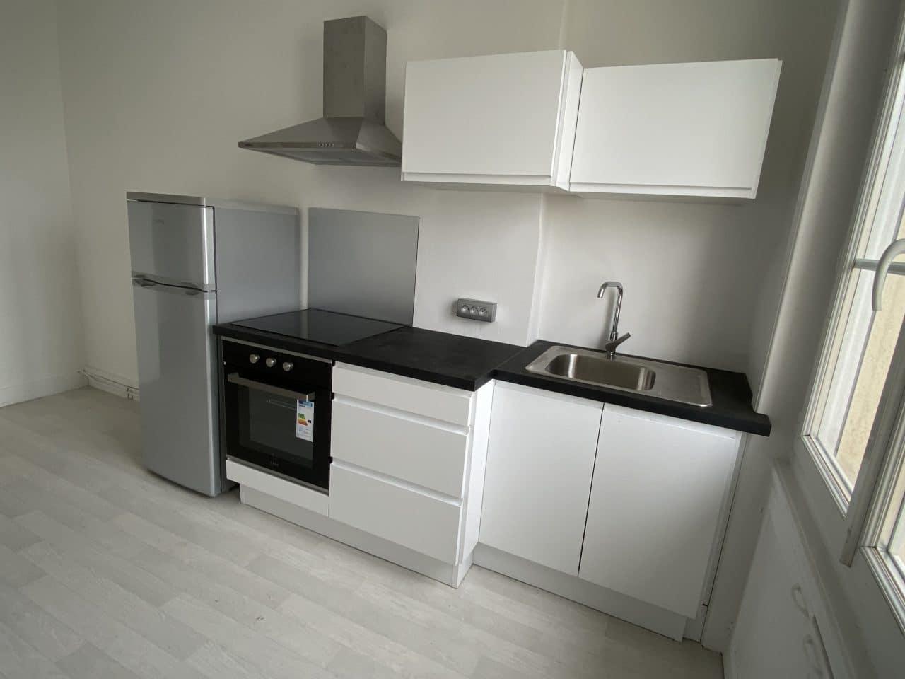 rénovation d'appartement pour du locatif à Saint-Étienne - cuisine
