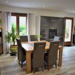 Nouveau revêtement de sol - Rénovation partielle d'une maison à Monsteroux Milieu en Isère