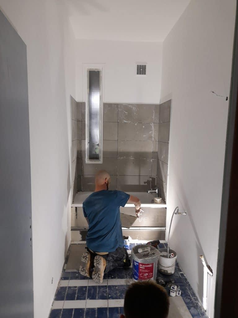 rénovation de salle de bain à Lille saint-Maurice - pendant travaux