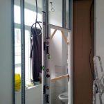 Modification d'une cloison - Rénovation d'un studio à Lille par illiCO travaux