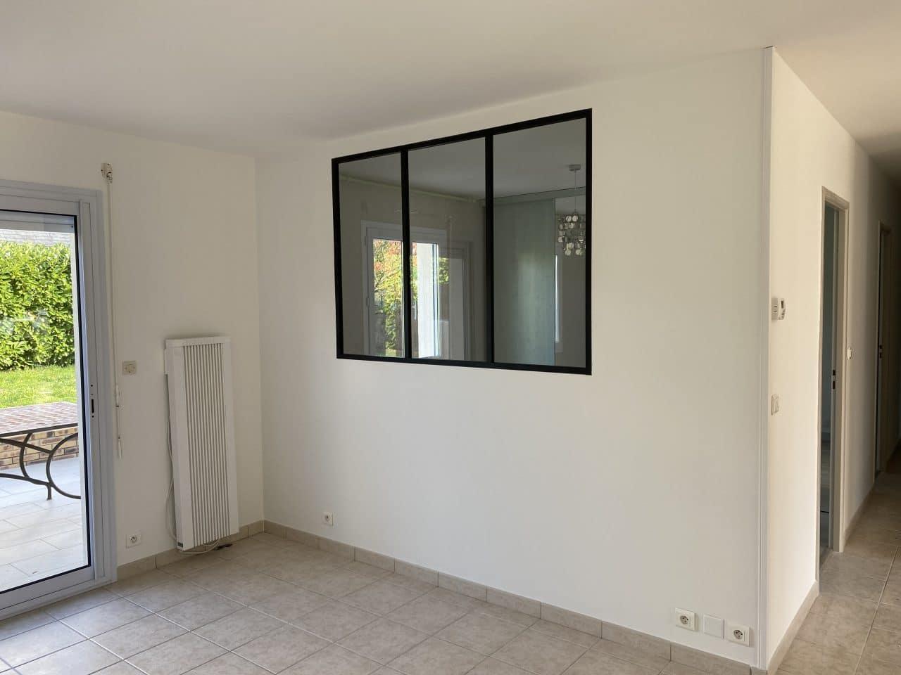 rénovation partielle d'une maison à Luynes - verrière intérieure