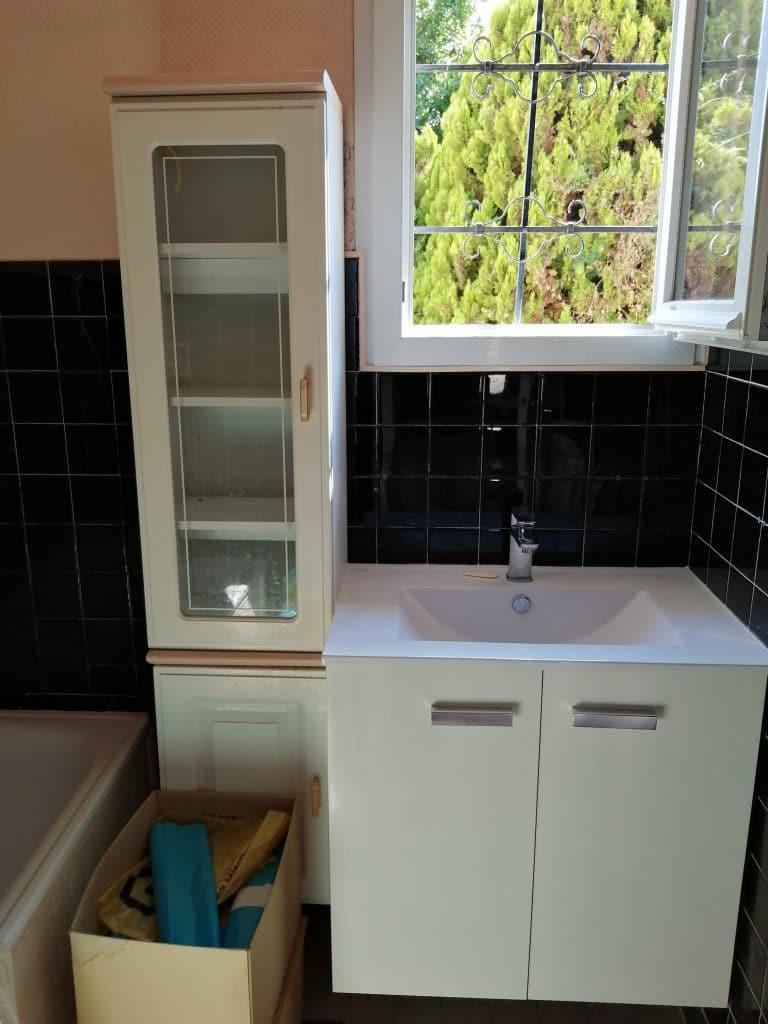 rénovation partielle d'une maison à Mainvilliers - salle de bain